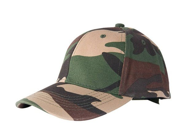 Camo Baseball Cap (Item # OHGKQ-JWSYR) Baseball cap sold by InkEasy