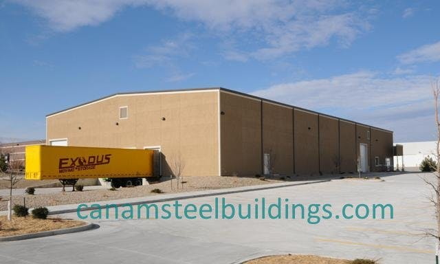 Distribution Warehouse - Steel Building Systems - sold by CanAm Steel Building Corporation