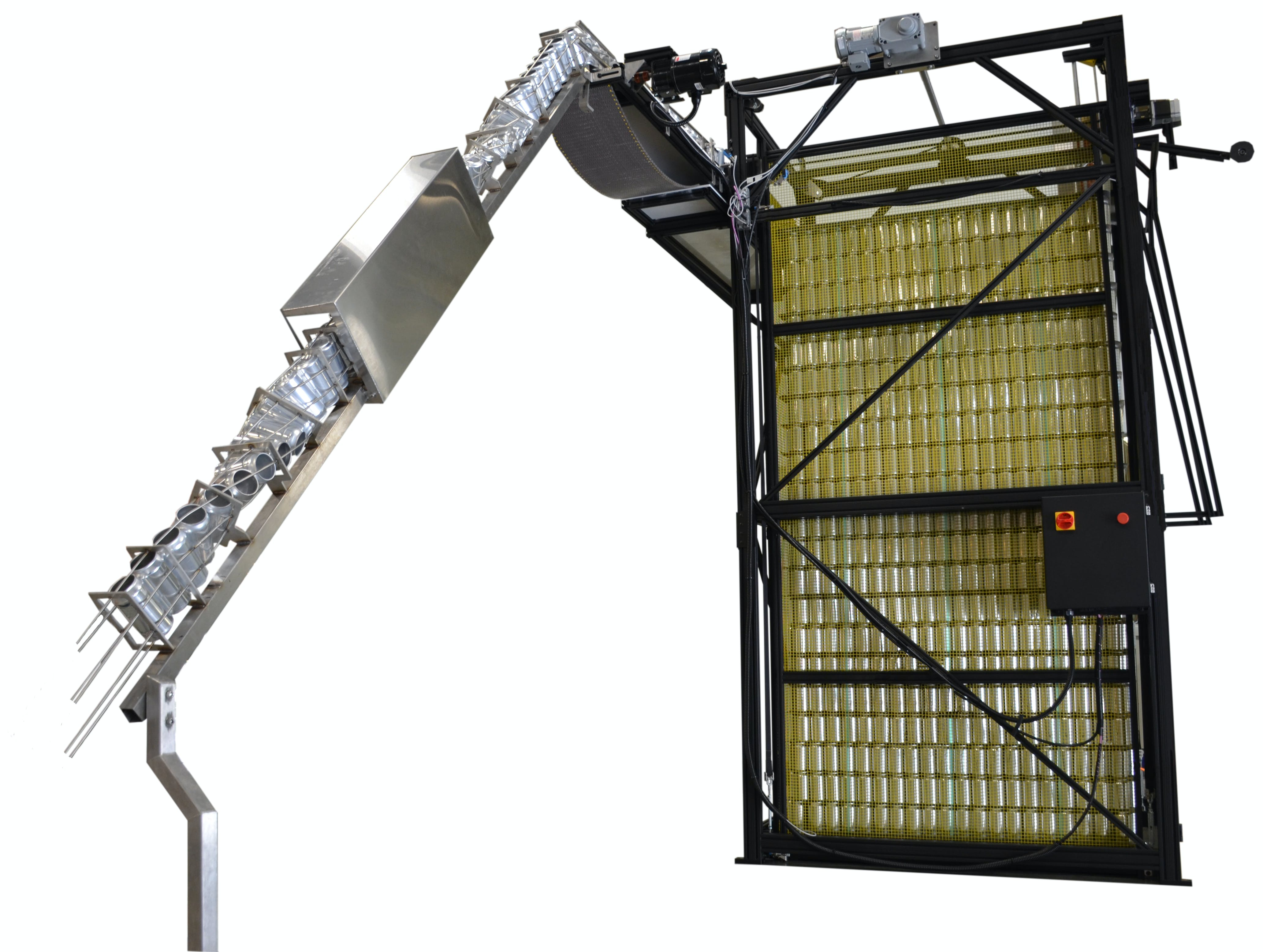 Yellow Jacket Automatic Can Depalletizer Can filler sold by American Beer Equipment