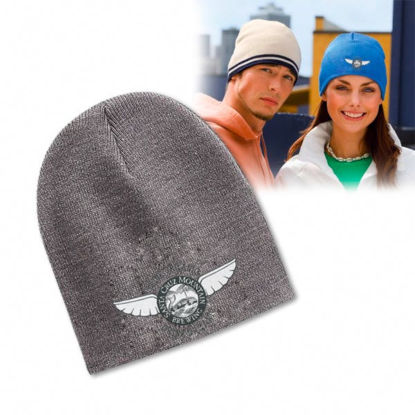 Port & Company Knit Skull Cap Promotional cap sold by MicrobrewMarketing.com
