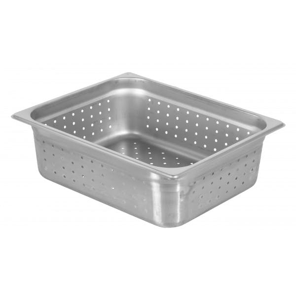 """4"""" Half Size Perforated Stainless Food Pan"""