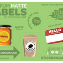 Matte Labels - Bottle label sold by StickerGiant