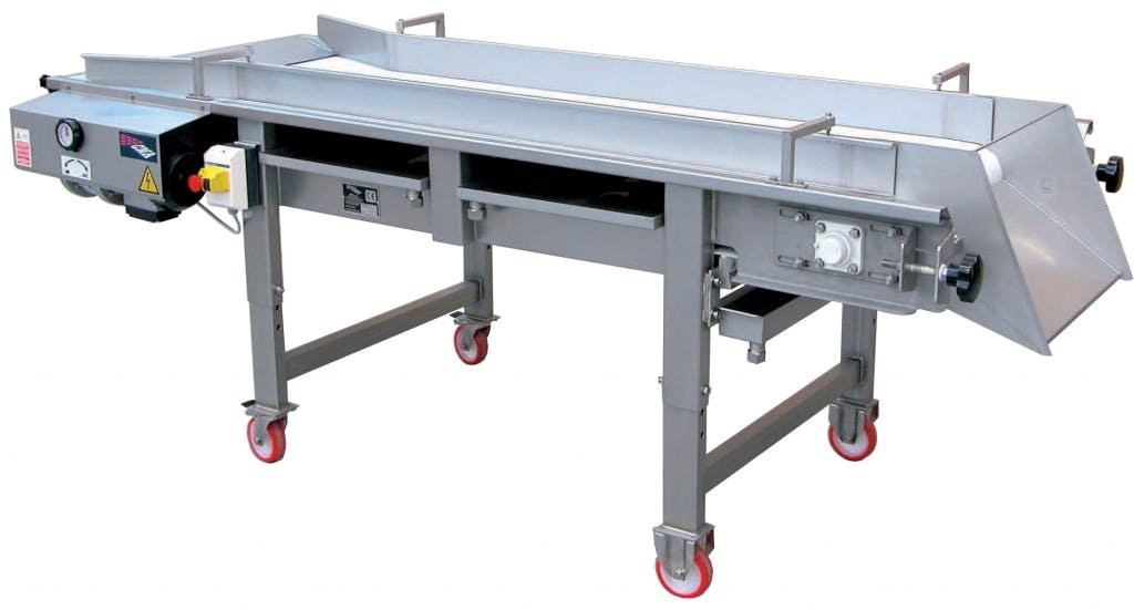 C.M.A. S800 x 2.5 Grape sorting tables Grape sorting table sold by Prospero Equipment Corp.