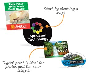 Full Color Labels – Process Color - sold by Smartsign
