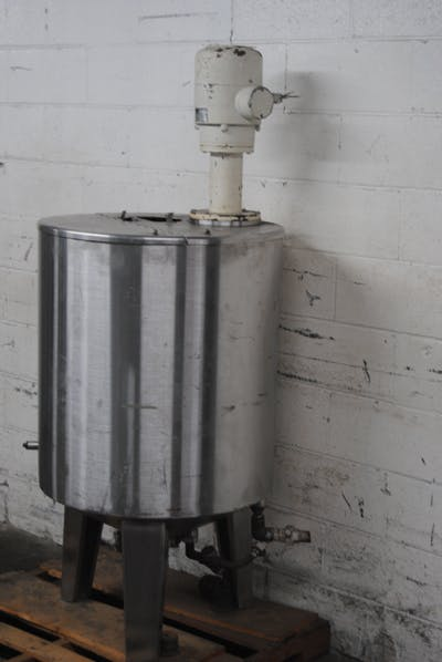 TER BRAAK 80-GALLON S/S TANK WITH MIXER Mixing tank sold by Union Standard Equipment Co