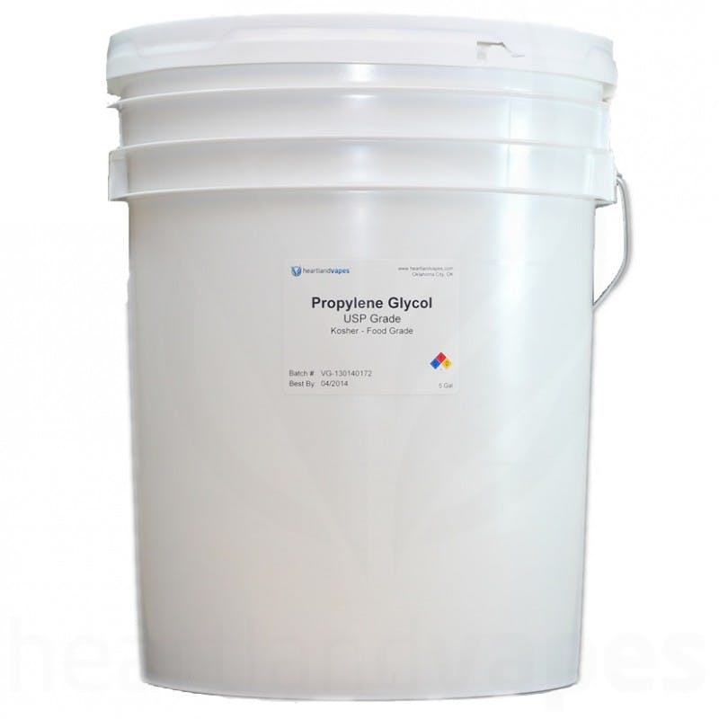 Propylene Glycol - USP Kosher - 5 Gallon Pail Propylene glycol sold by Heartland Vapes LLC