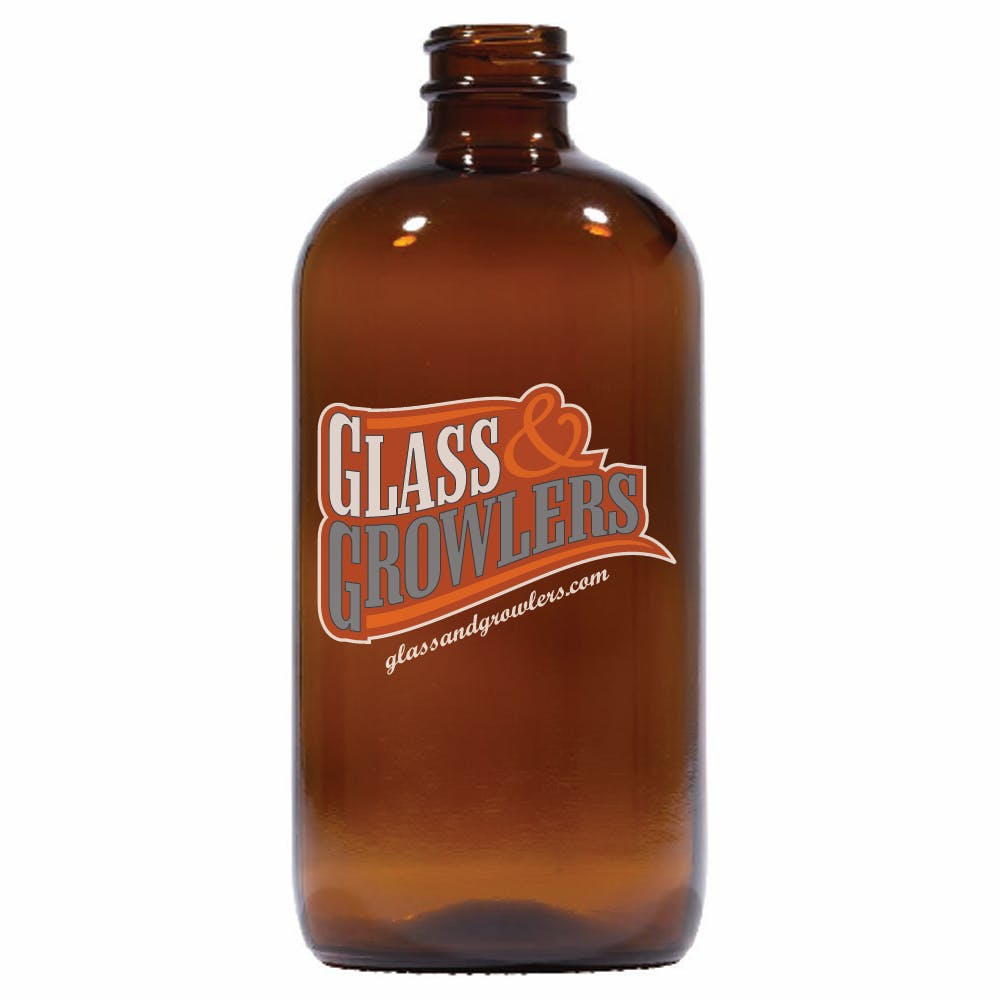 16 oz Amber Pint Growler Growler sold by Glass and Growlers