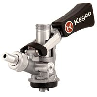 Kegco Beer Keg Taps Couplers S System Ergonomic Lever Handle Stainless Steel Probe Model:KTS98S-W Keg coupler sold by Beverage Factory
