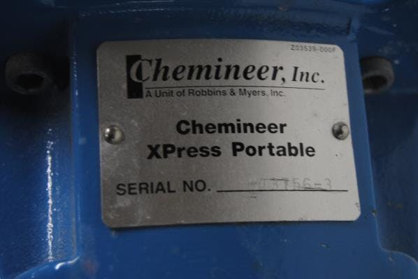 Chemineer model Z03539-000F Portable Mixer - sold by Union Standard Equipment Co