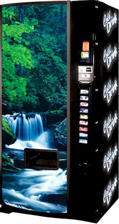 Dixie Narco Model 600E Waterfall scene Vending machine sold by Vending World