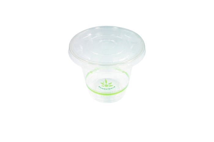 Compostable Flat Lid for 20oz, 16oz, 12oz, 9oz Compostable cold cups Disposable cup sold by Emerald Brand
