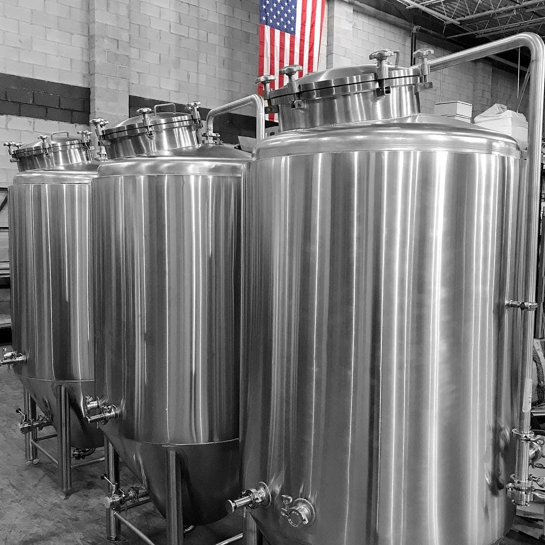 Fermenters 3.5 - 120 bbl Fermenter sold by Systech Stainless Works, LLC