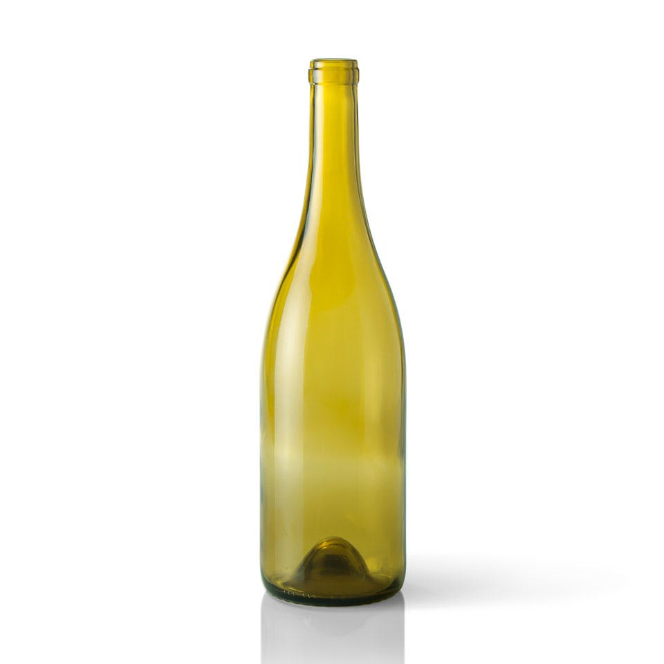 750 ml Dead Leaf Green Glass Burgundy Wine Bottle Wine bottle sold by Packaging Options Direct