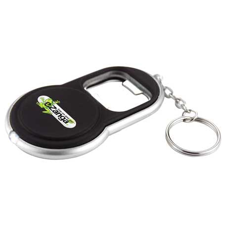 Circle Bottle Opener Keylight - 6640-15 - Leeds Promotional flashlight sold by Distrimatics, USA