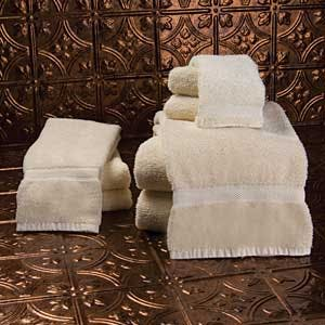 Golden Touch Dobby Border Towel Towel sold by Humdinger Supply