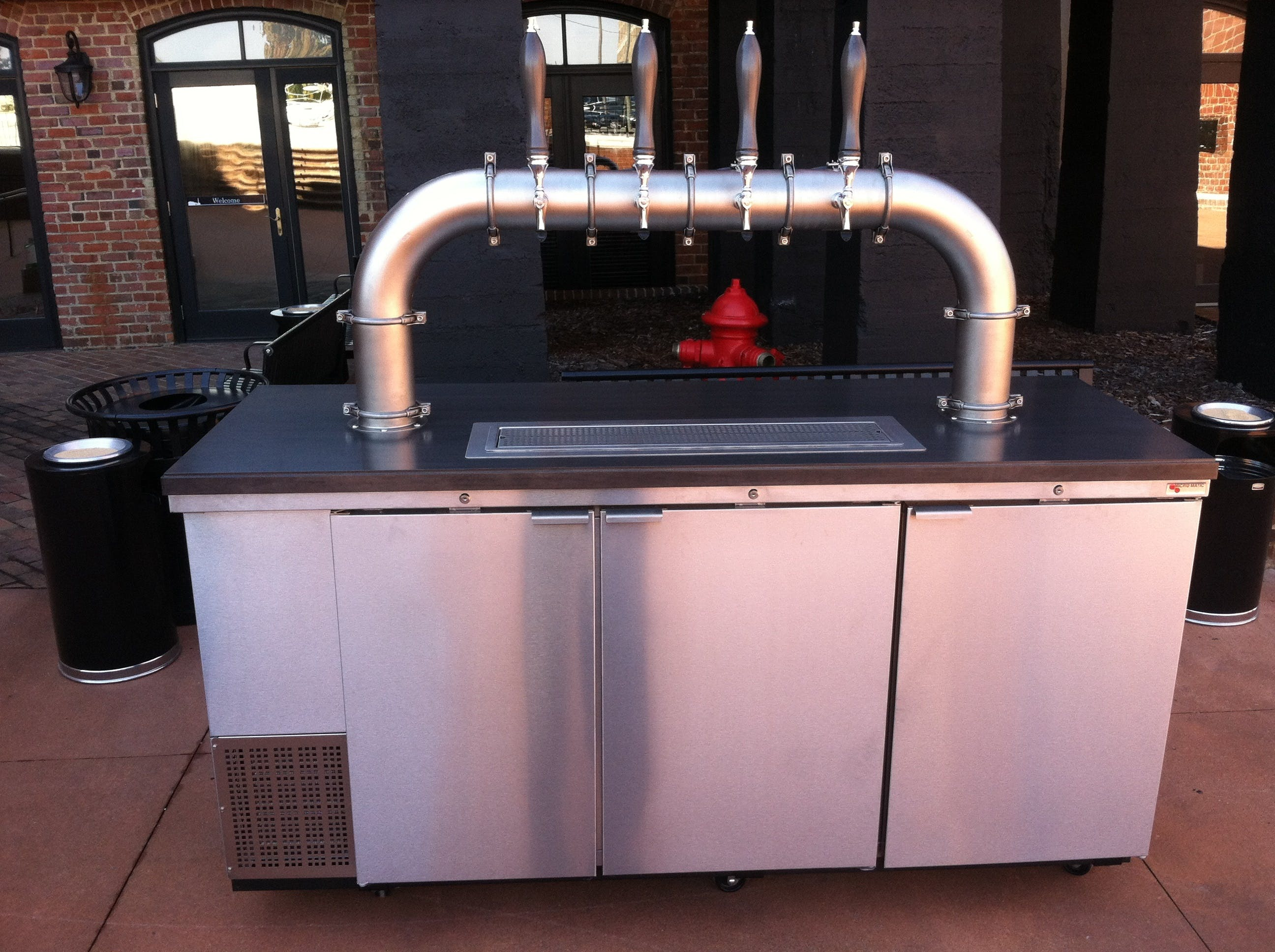 Custom Kegerator Unit Draft beer system sold by Divinity Beer System