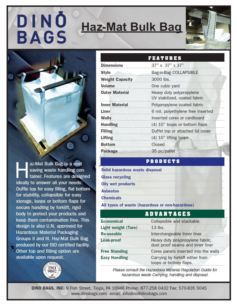 Hazmat Bag - sold by Dino Bags