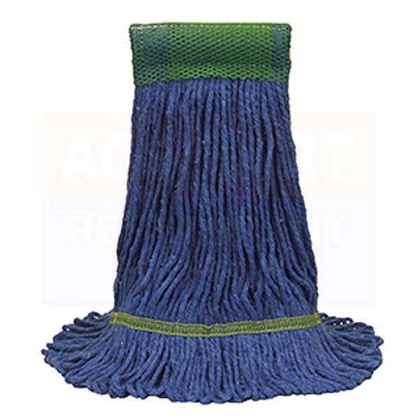 MaxiClean Large Blue Cotton Blend Loop-End Mop