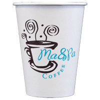 12 oz. Custom Disposable Paper Cups Disposable cup sold by Cup of Arms