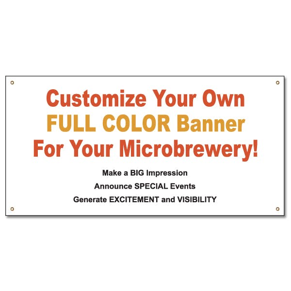 2 ft. x 4 ft. Custom Full Color Banner Vinyl banner sold by MicrobrewMarketing.com