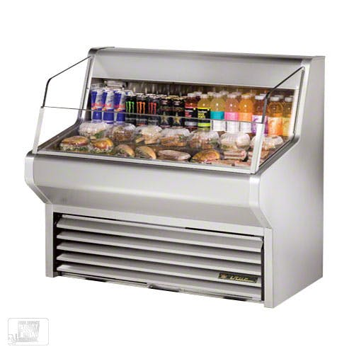 "True (THAC-48-S) - 48"" Stainless Steel Horizontal Air Curtain Merchandiser Merchandiser sold by Food Service Warehouse"