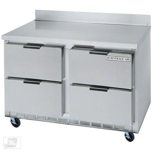 "Beverage Air - WTRD48A-4 48"" Worktop Refrigerator w/ Drawers Commercial refrigerator sold by Food Service Warehouse"