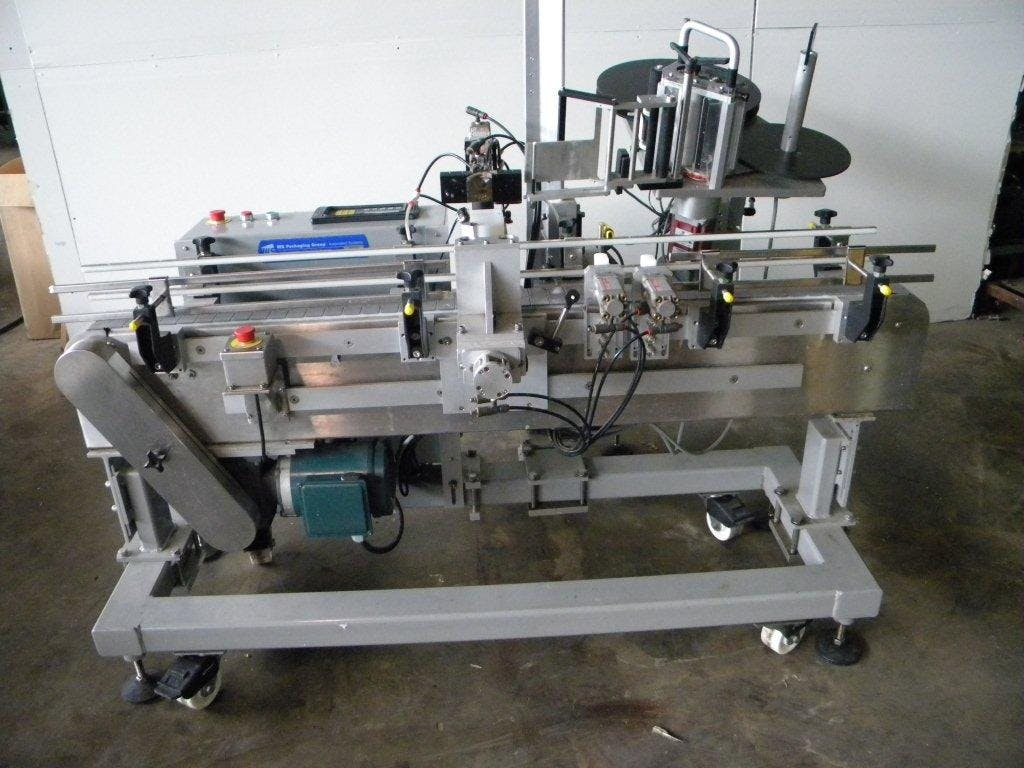 WS Packaging neck labeler - sold by Ager Tank & Equipment Co.