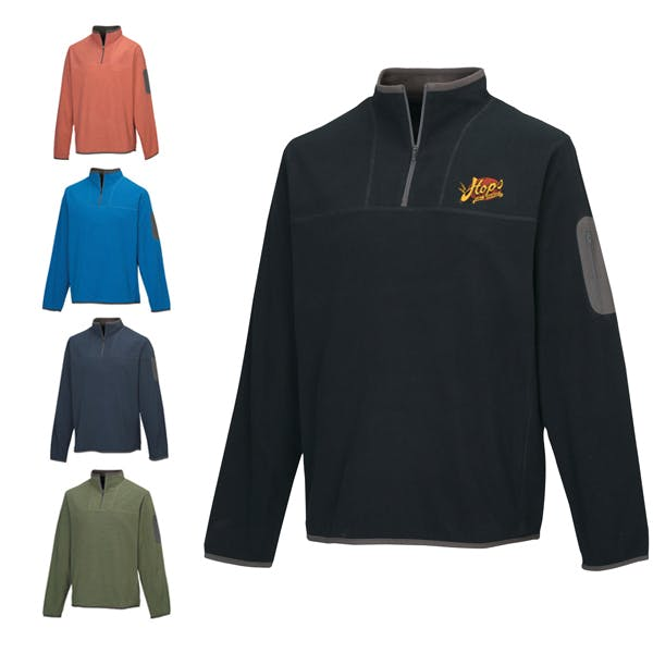 Men Cordova/Ladies Juneau 1/4 Zip Fleece Promotional apparel sold by MicrobrewMarketing.com