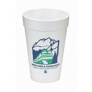 16 Oz. Foam Cups  Disposable cup sold by Custom H2Oh!