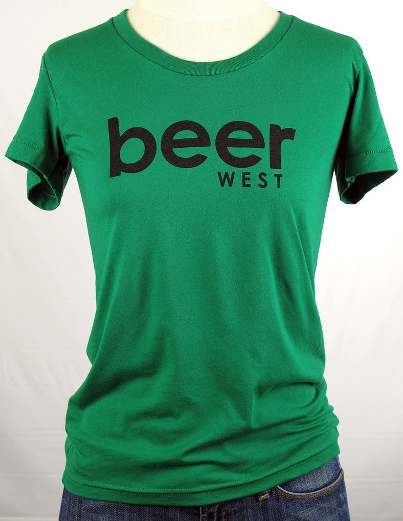 LADIES American Apparel crew neck tee 50/50 - beerwest Promotional shirt sold by Brewery Outfitters