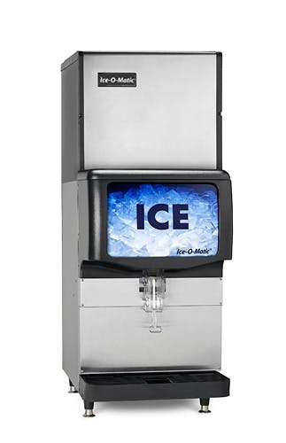 Cube ICE Maker, air-cooled, approximately 320 lb production/24 hours, half-size cubes (BIN SOLD SEPARATELY)