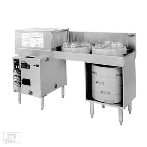 Glastender - GT-18+2-78R 600 Glass/Hr Pass-Through Rotary Rack Glasswasher Commercial dishwasher sold by Food Service Warehouse