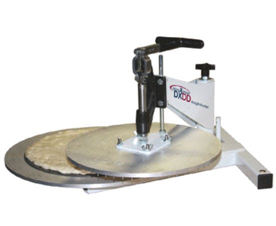 "DoughXpress DXDD Dough Docking Press (up to 18"" diameter) Dough press sold by pizzaovens.com"