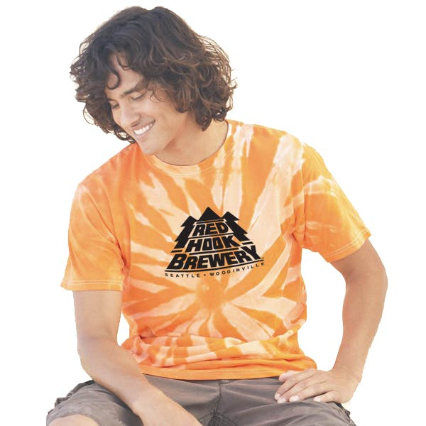 Tie-Dyed Tone-on-Tone Pinwheel T-Shirt Promotional shirt sold by MicrobrewMarketing.com