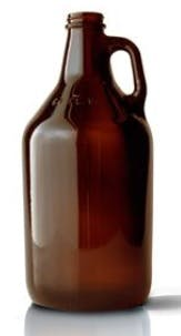 052251 - 64 oz Round Amber Glass Beer Growler  Growler sold by Packaging Options Direct