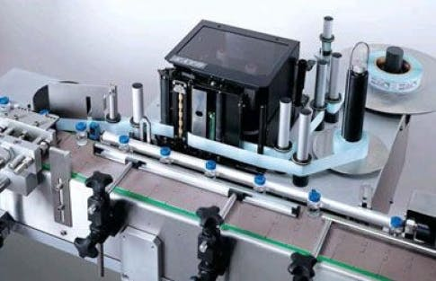 Wrap Around Labeler, Model 342 Bottle labeler sold by ACASI Machinery