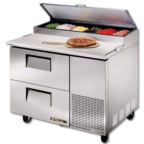 True Manufacturing TPP-44D-2 Pizza Prep Table, 2 Drawers, 44-1/2 Inches Wide Food prep table sold by Mission Restaurant Supply