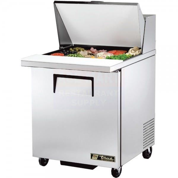 "Mega Top 28"" Stainless Sandwich Prep Table"