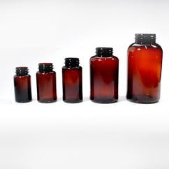 120 cc Amber Wide Mouth Round PET Packer Bottle (#111989) Plastic bottle sold by Berlin Packaging