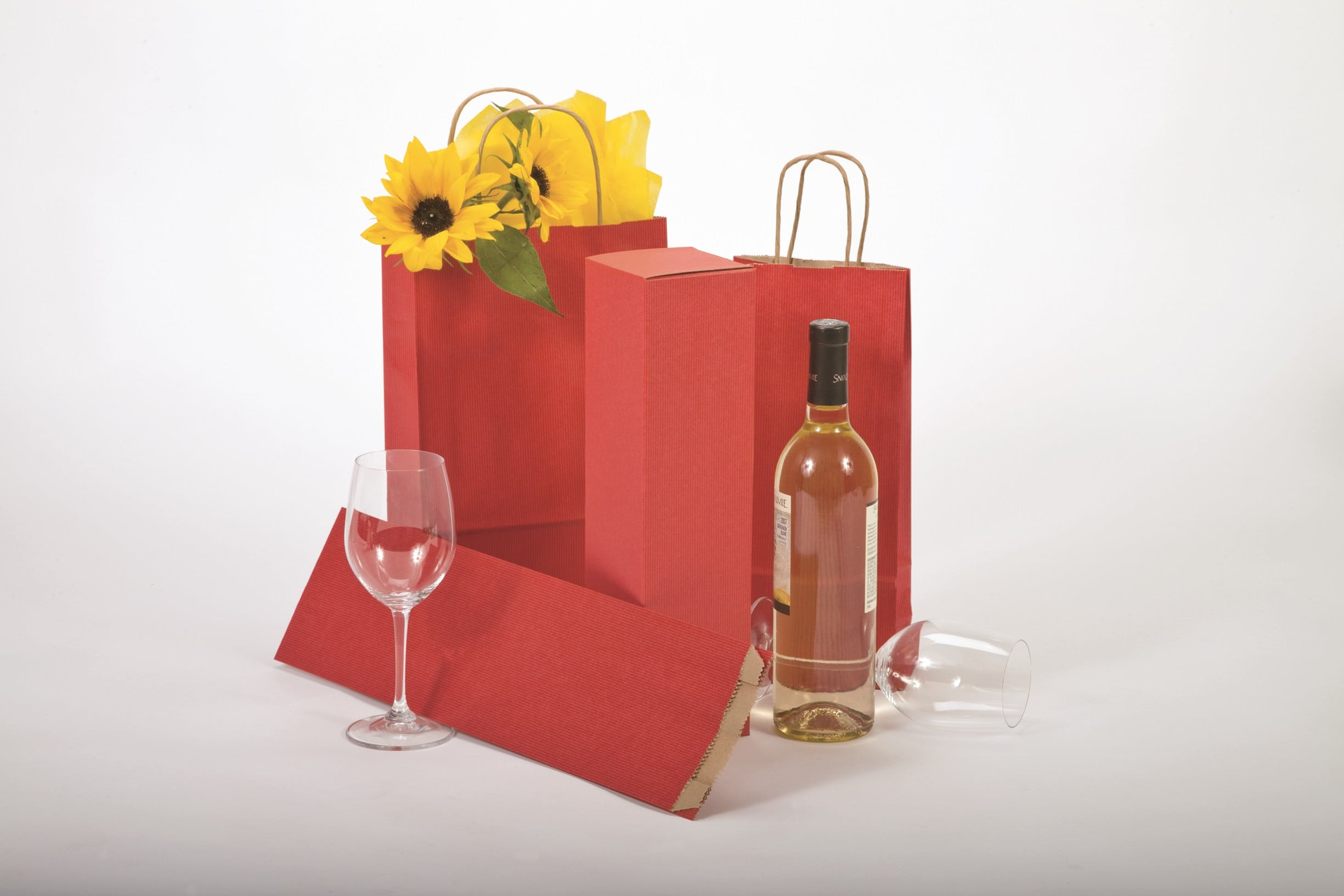 Wine bags-Printed  Wine bag sold by Howard Packaging