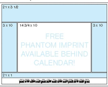 Calendar Desk Pads (Red Preprinted Calendar) 1 Or 2 Color Custom calendar sold by Dechan, Inc. II