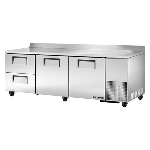 "True - TWT-93D-2 93-1/4"" Worktop Refrigerator w/Drawers Commercial refrigerator sold by Food Service Warehouse"