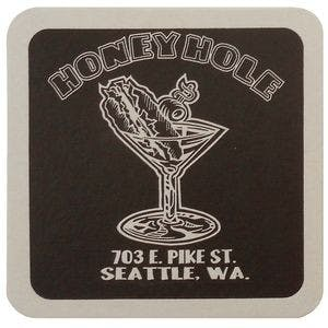 "40 Pt. 4"" Square - White High Density Coasters Drink coaster sold by Newton Screen Printing"