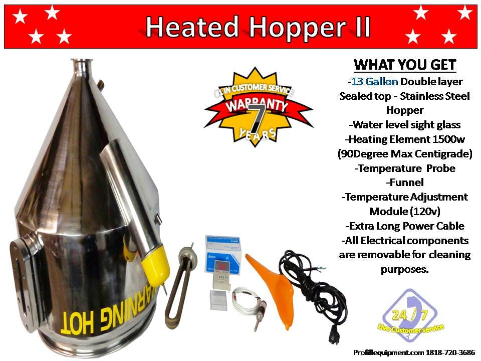 Heated Hopper II / Fits all Jet- Models Only Hopper sold by Pro Fill Equipment