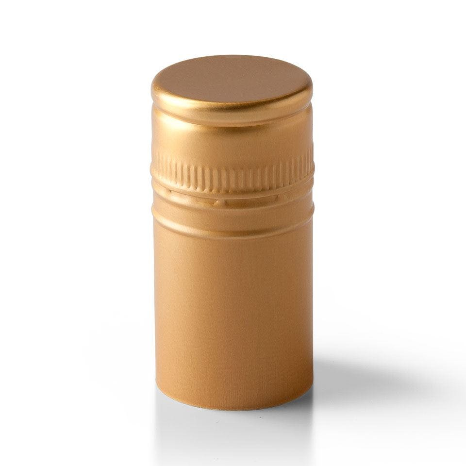 Gold Stelvin Closure with Tin Liner Bottle capsule sold by Packaging Options Direct