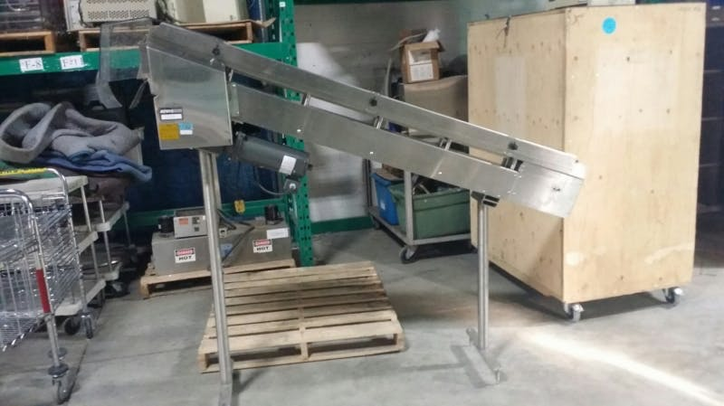 DL TECH Stainless Steel Incline Conveyor (Used) - sold by Aevos Equipment