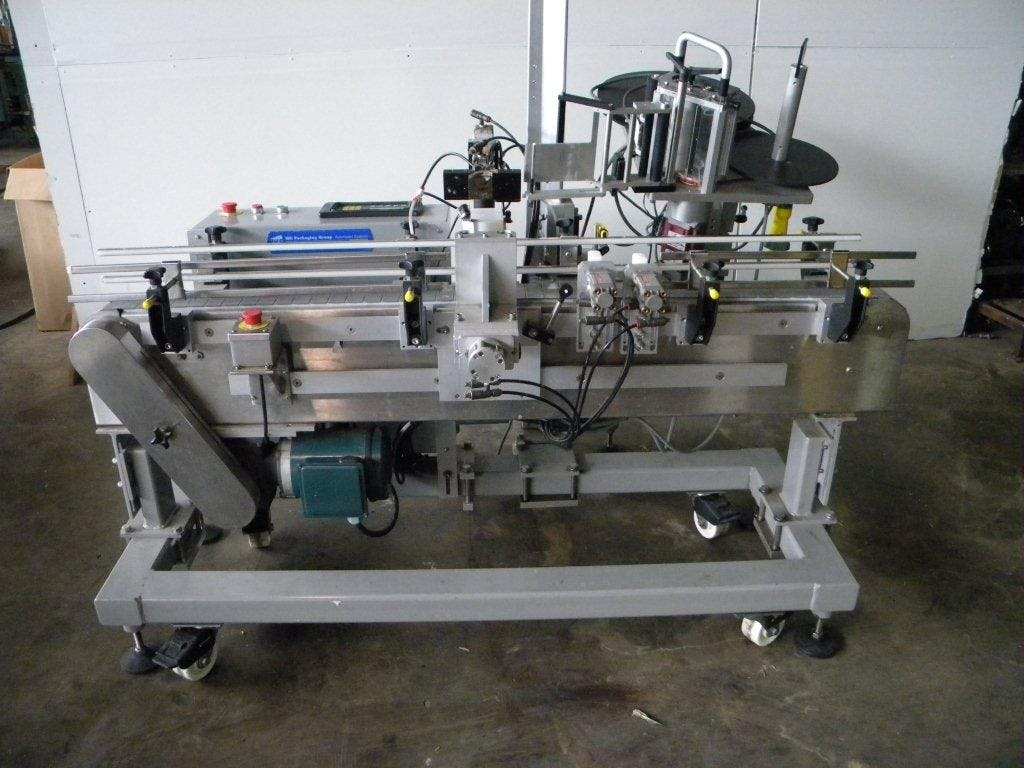 WS Packaging neck labeler  Bottle labeler sold by Ager Tank & Equipment Co.