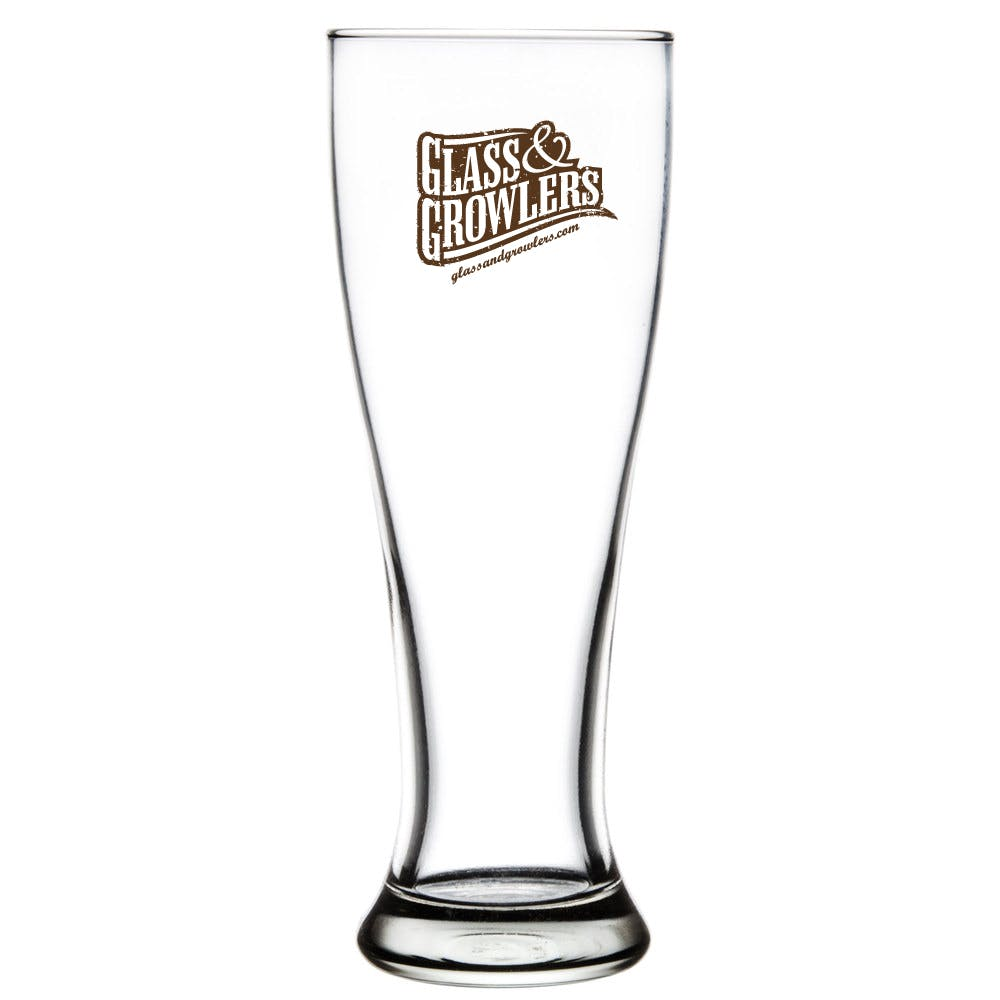 1604 Pilsner 16 oz Beer glass sold by Glass and Growlers