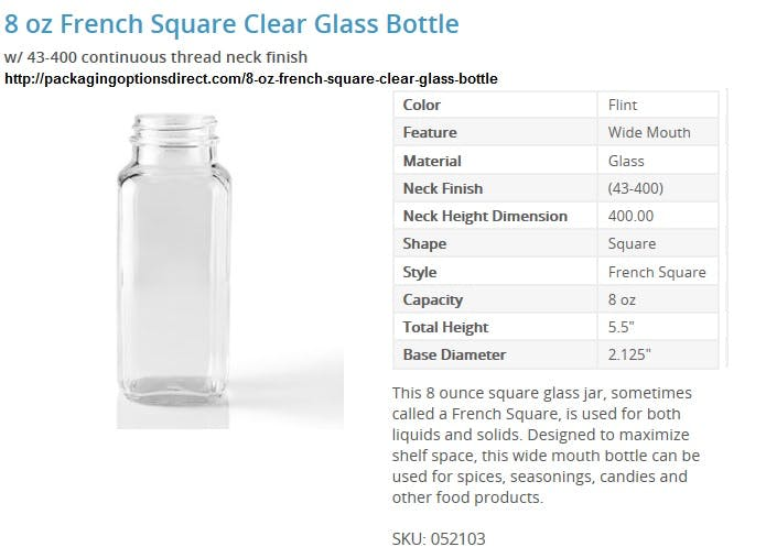 Glass bottles Glass bottle sold by Packaging Options Direct