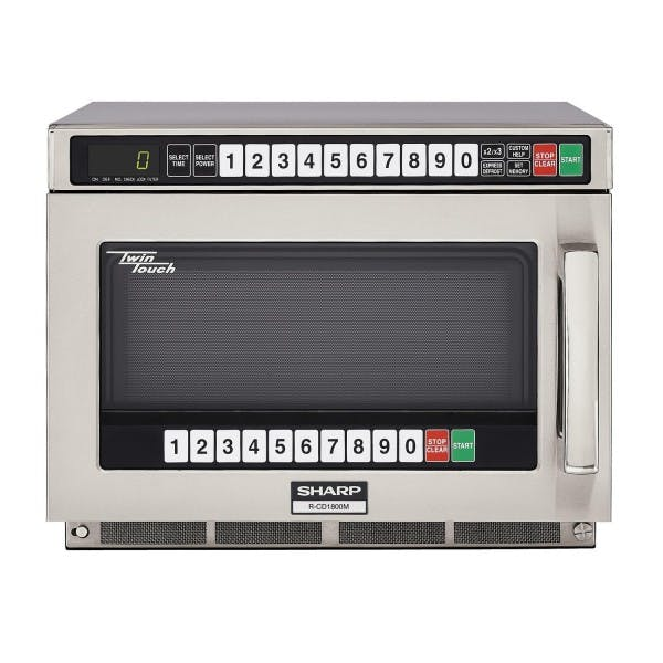 TwinTouch™ 1800w Stainless Dual-Touch Microwave Oven
